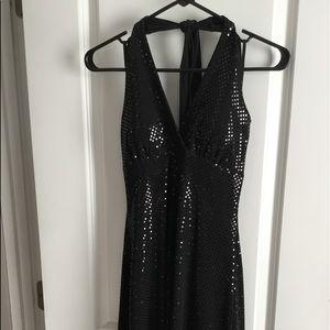 Black sequins party dress